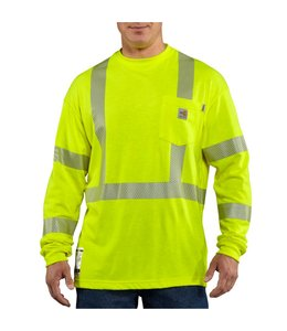 Carhartt Shirt Long Sleeve High Visibility Flame Resistant FRK003