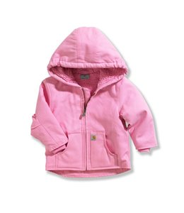 Carhartt Girl's Infant/Toddler Jacket Sherpa Lined Redwood CP9460