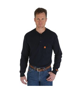 Wrangler Henley Long Sleeve Flame Resistant Riggs Workwear® FR3W8NV