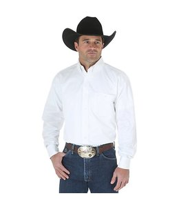 Wrangler Shirt Twill White Long Sleeve George Strait MGS242W