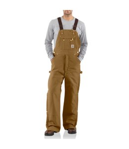 Carhartt Bib Overalls Quilt Lined Zip to Thigh R41