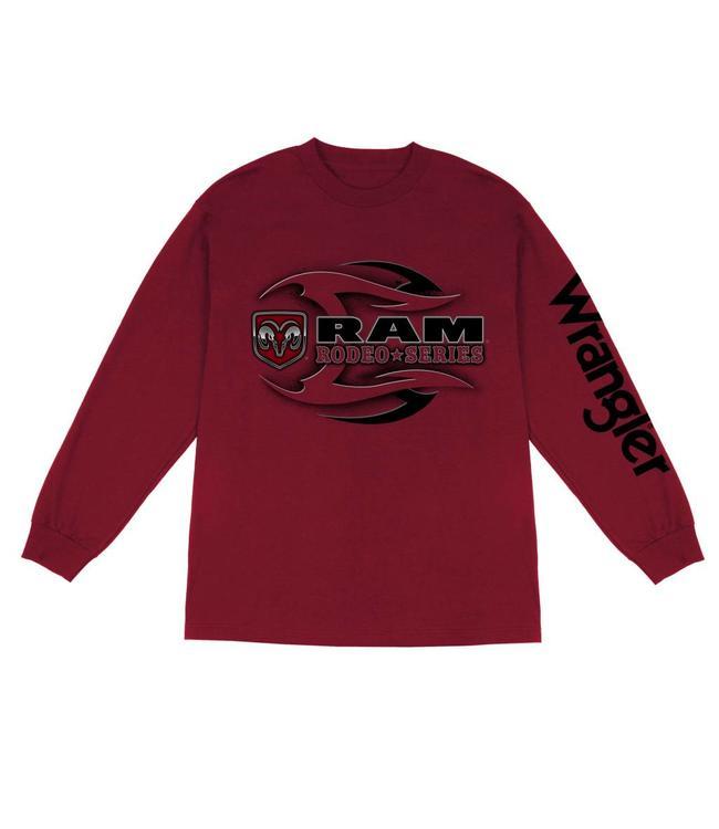 0cbda83f T-Shirt Long Sleeve Ram Rodeo Series MQ7676R - Traditions Fabric ...