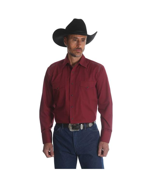 Wrangler Shirt Button Down Long Sleeve Silver Edition 75772RD