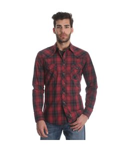 Wrangler Shirt Long Sleeve Snap Down Retro MVR313M