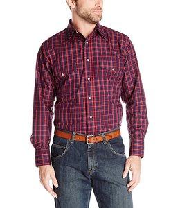 Wrangler Shirt Long Sleeve Snap Wrinkle Resist MWR154M