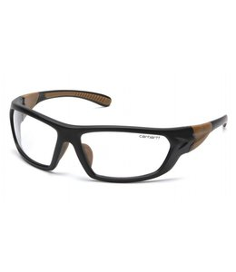 Carhartt Safety Glasses Carbondale Black-Tan Frame/Clear Lens CHB210D