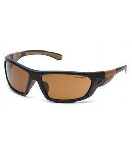 Carhartt Safety Glasses Carbondale Black-Tan Frame/Sandstone Bronze Lens CHB218D