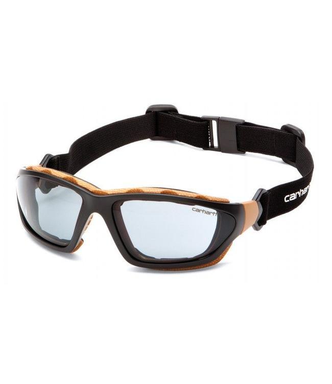 Carhartt Safety Glasses Carthage Black-Tan/Gray Anti-Fog Lens CHB420DTP