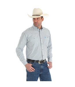Wrangler Shirt Long Sleeve Button Down Plaid George Strait MGSM469