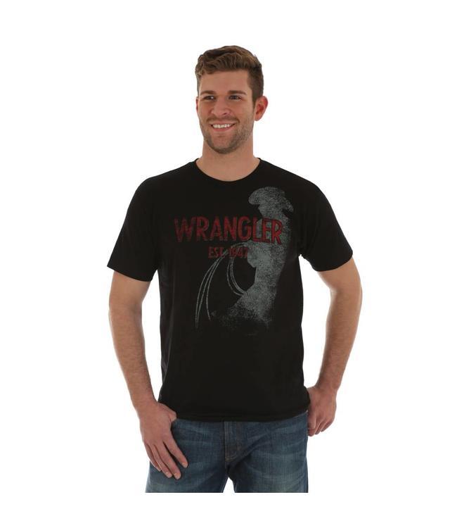 Wrangler T-Shirt Short Sleeve Screenprint Est. 1947 MQ7764X
