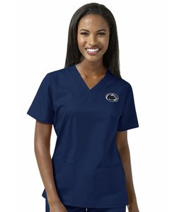 WonderWink Scrub Top V-Neck University of Penn State 101APSN1