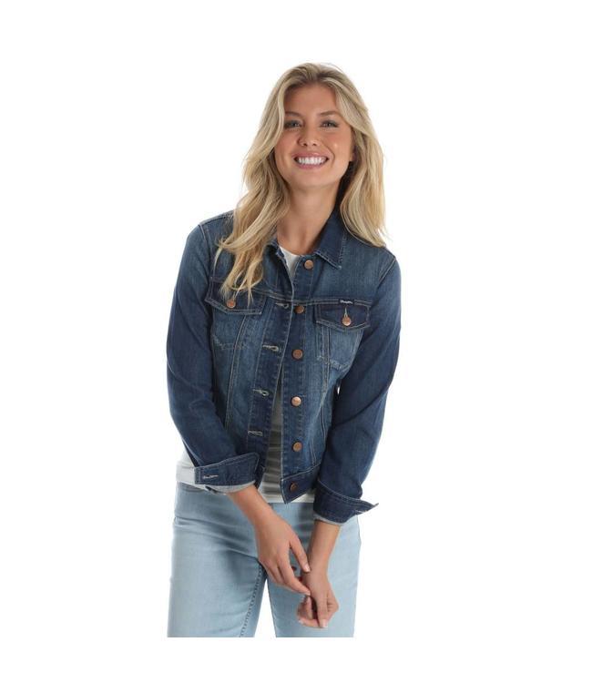 Wrangler Jacket Premium Denim With Button Flap LWJ370D