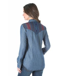 Wrangler Shirt Western Fashion Long Sleeve LW8171D