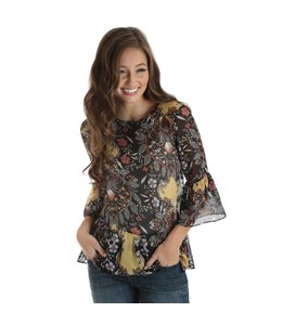 Wrangler Top Bell Sleeve Allover Floral Print LW7197M