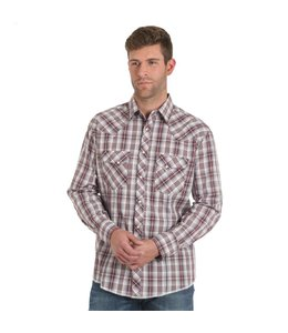 Wrangler Shirt Western Snap Plaid Fashion Long Sleeve MVG207M