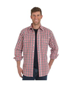 Wrangler Shirt Plaid Western Long Sleeve Wrinkle Resist MWR264M