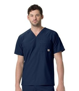 Carhartt Scrub Top Slim fit V-Neck Back Vent C15106X