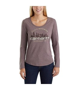 Carhartt T-Shirt Long-Sleeve Rugged Workwear Graphic Lockhart 103252