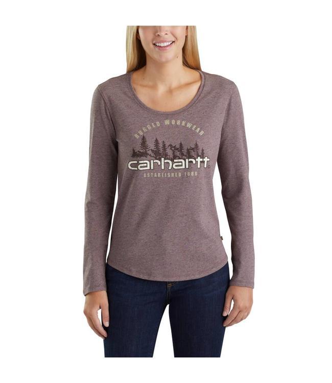 Carhartt T-Shirt Long-Sleeve Rugged Workwear Graphic Lockhart 103252