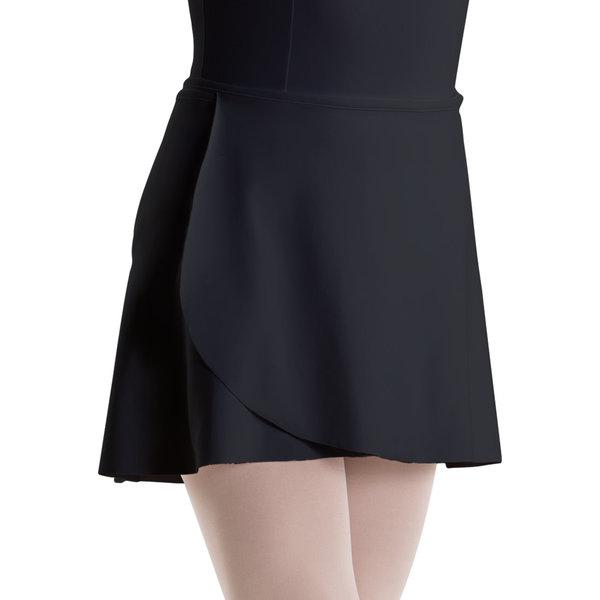 MOTIONWEAR Wrap Tie Skirt/Unfinished Hem 1169