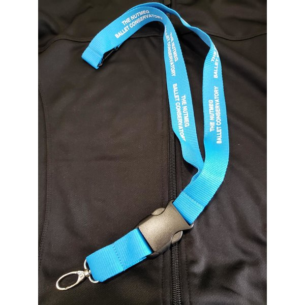 The Nutmeg Ballet Conservatory Hang in There Logo Lanyard