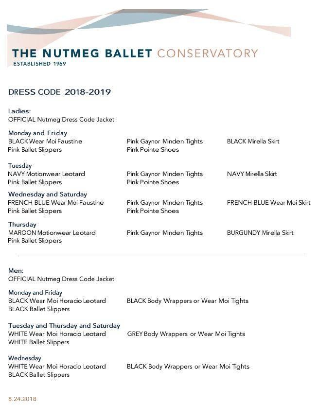 Nutmeg Year-Round Dress Code