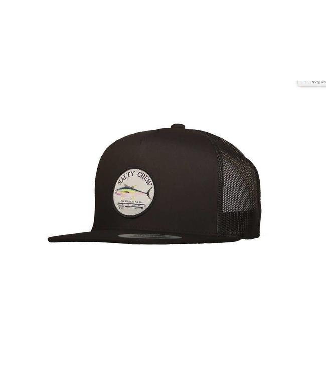best website dfaff ee671 Salty Crew Ahi Gauge 5 Panel Black Trucker Hat