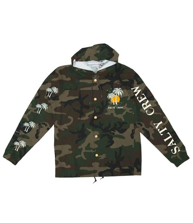 Salty Crew Twin Palms Camo Snap Jacket
