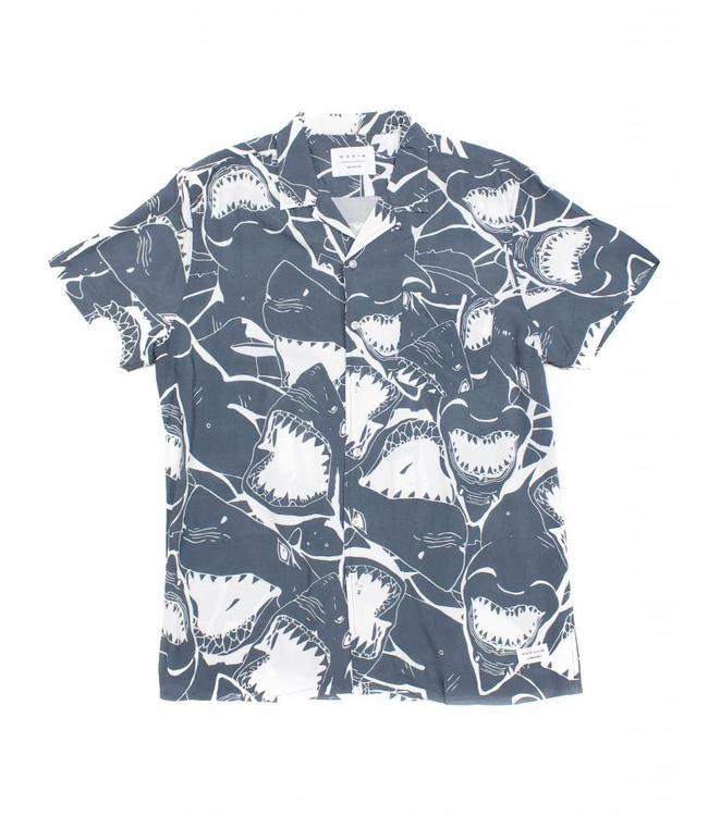 Duvin Design Co. Jaws Grey Button Down Shirt