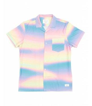 Duvin Design Co. Wavy Pink Button Down Shirt