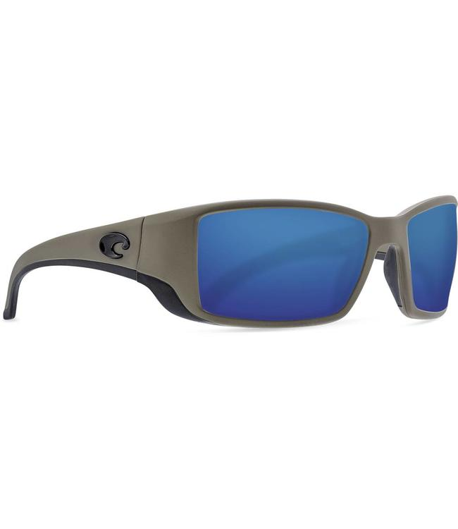 66a9296640 Costa Del Mar Blackfin Moss 580G Blue Mirror Sunglasses
