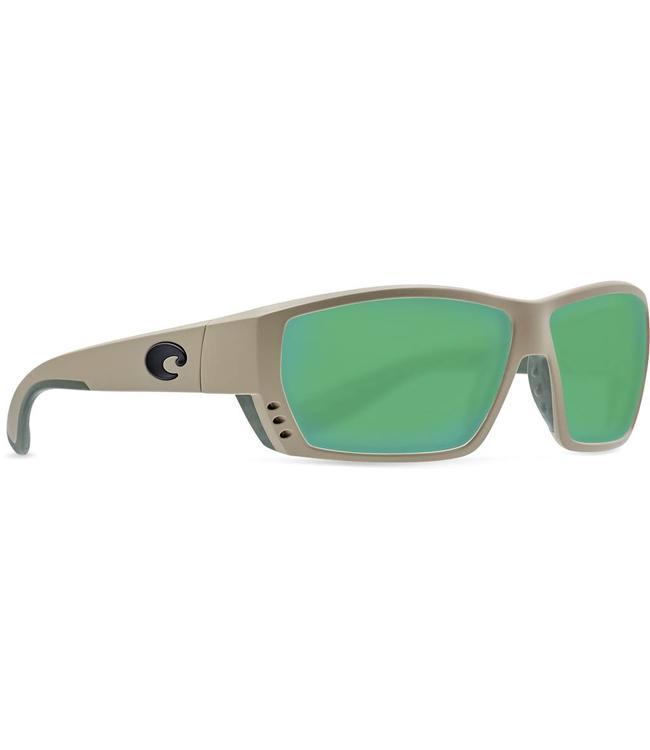 Costa Del Mar Tuna Alley Sand 580G Green Mirror Sunglasses