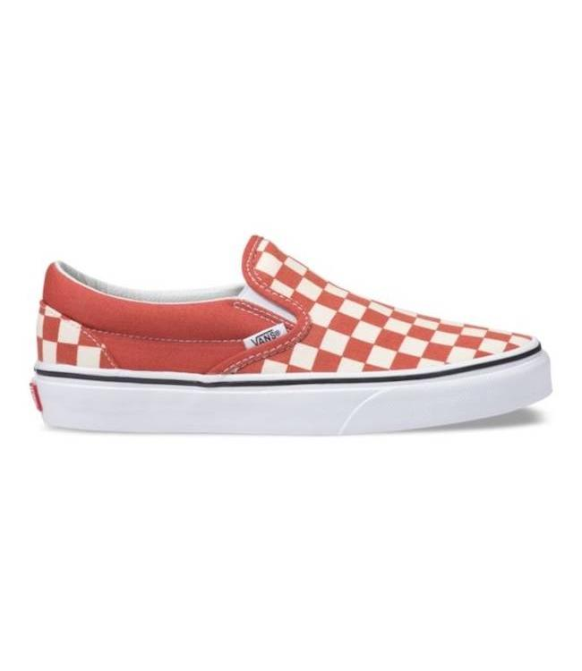 14000dbfb49e Vans Classic Slip On Hot Sauce Checkerboard Shoes - Drift House Surf ...