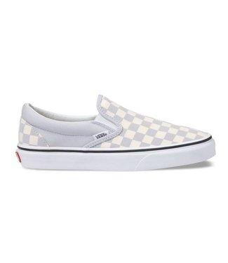 Vans Classic Checkerboard Gray Slip On Shoes