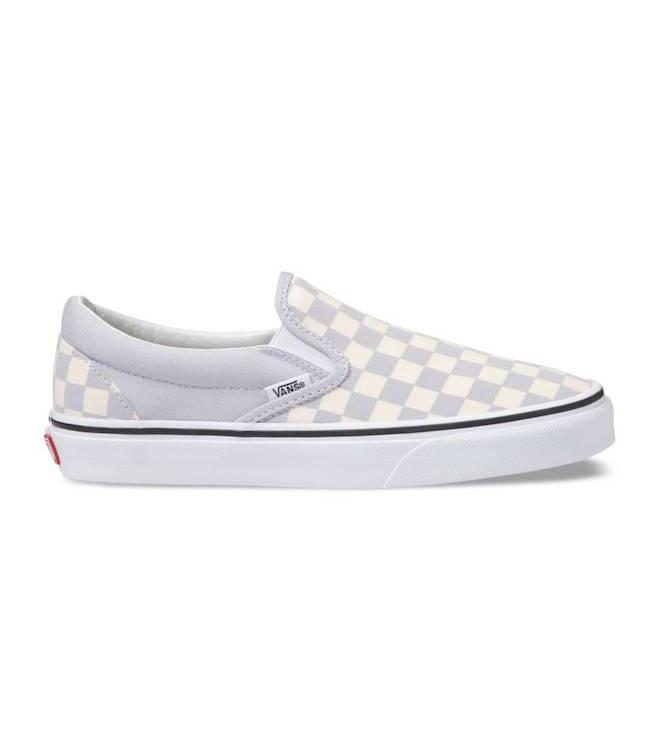 128a129c8c7a Vans Classic Checkerboard Gray Dawn Slip On Shoes - Drift House Surf ...