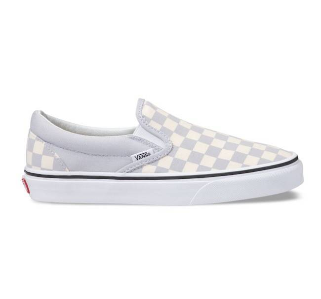 Vans Classic Checkerboard Gray Dawn Slip On Shoes