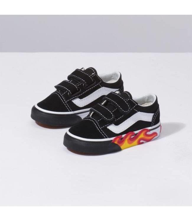 Vans Toddler Flame Cut Out Old Skool V Shoes