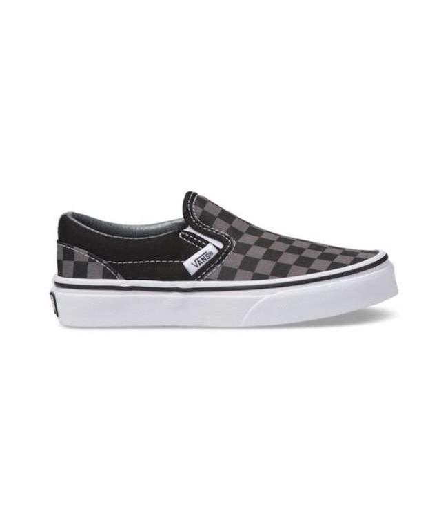 kids slip on vans black