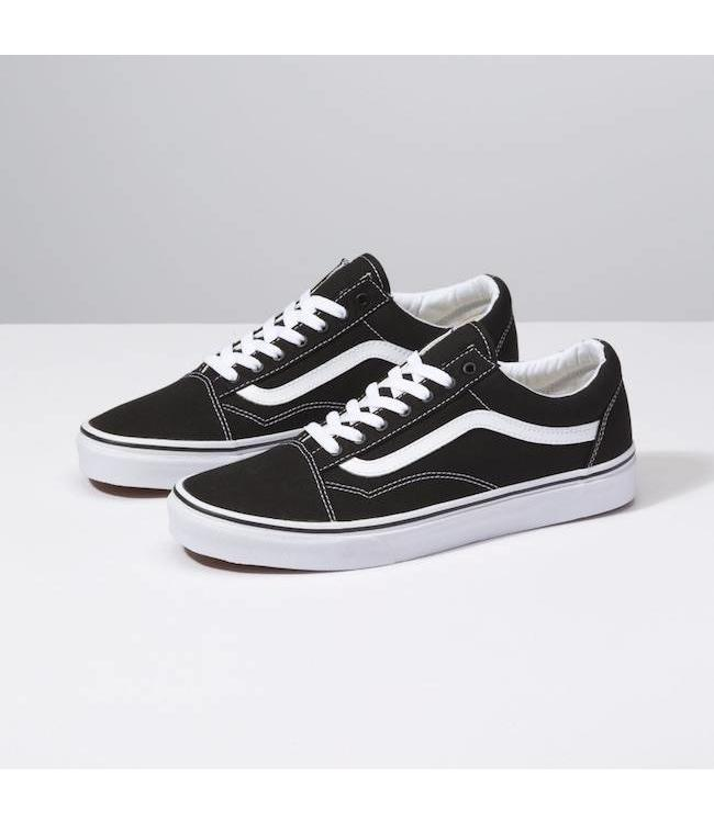 1d8215bcad Vans Kids Old Skool Black True White Shoes
