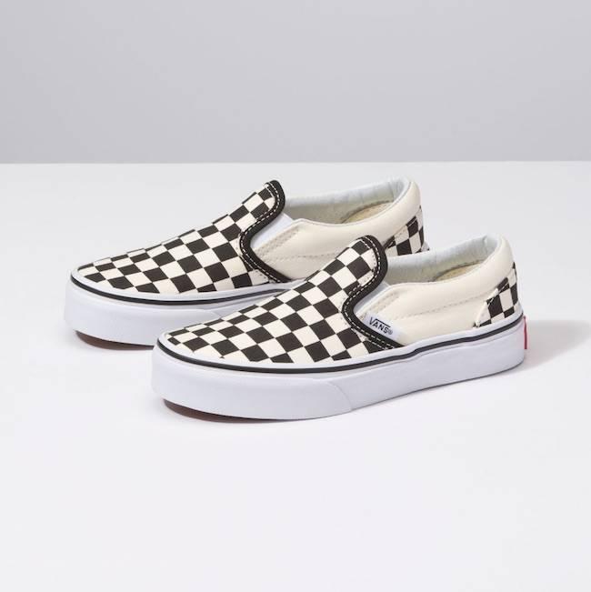 Vans Kids Black White Checkerboard Slip On Shoes - Drift House Surf Shop e453c1151