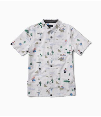 Roark Revival Tourista Button Up Off White Shirt