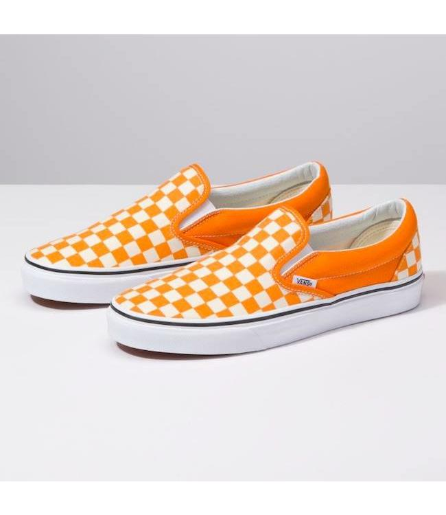 2007cbd306d Vans Classic Checkerboard Chedder Slip On Shoes
