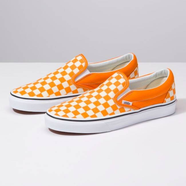 94fa061ca9 Vans Classic Checkerboard Chedder Slip On Shoes