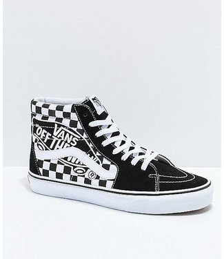 Vans Sk8 Hi Checkerboard Vans Patch Shoes