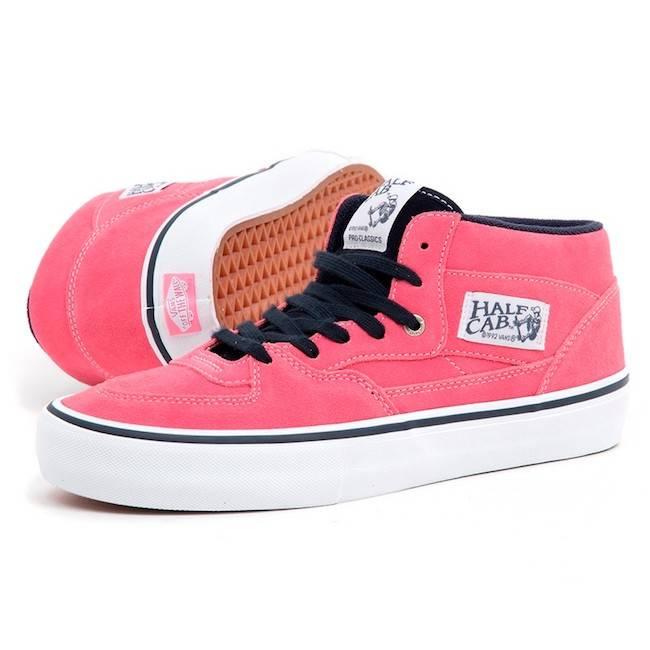 Vans Half Cab Pro Pink Lemonade Skate Shoes  0c12d8e58