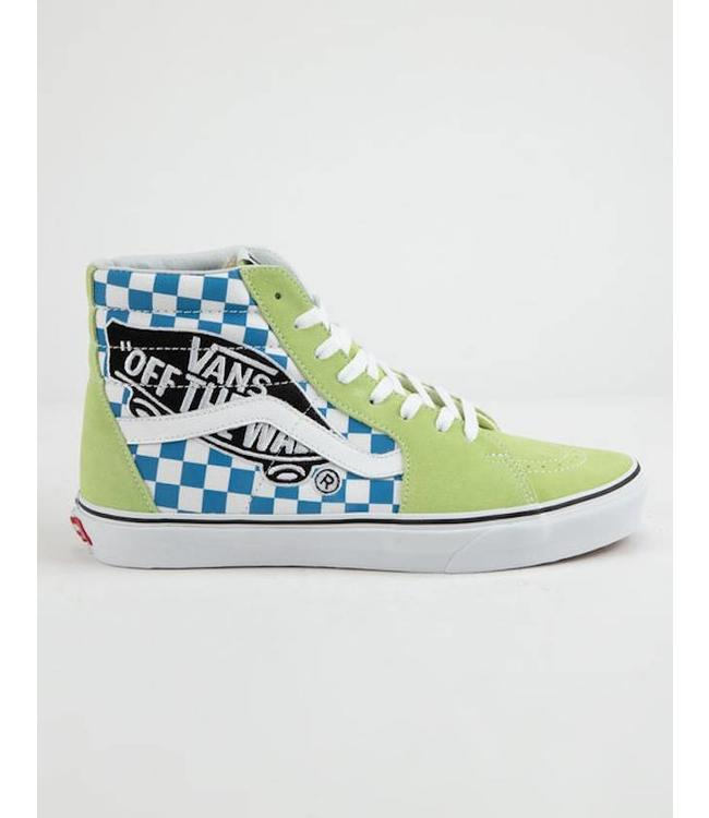 Vans Sk8 Hi Vans Patch Sharp Green Skate Shoes  67c289ca3