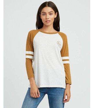 RVCA Slite Script Burnout Ringer T-Shirt