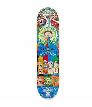"Primitive Skateboards Rick and Morty Collage Deck - 8.0"""