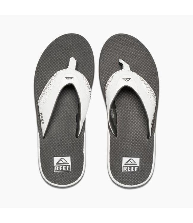 314292be528 Reef Fanning Grey and White Sandals