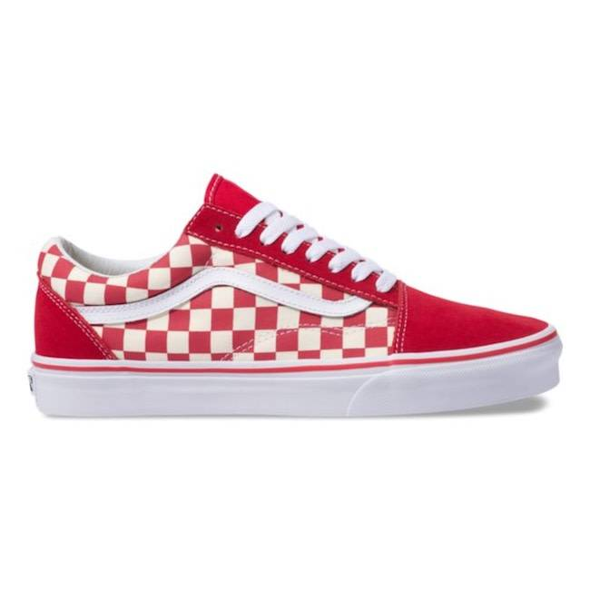Vans Primary Check Racing Red White Old